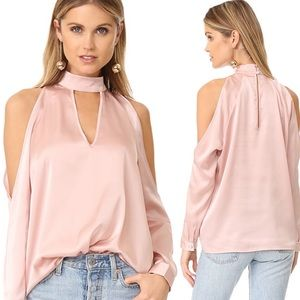 Yumi Kim Cameo Hot & Cold Satin Top Pink Large NWT